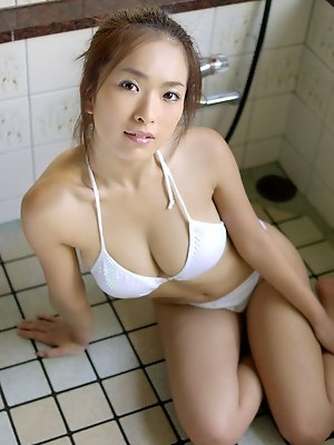 This busty gravure idol...